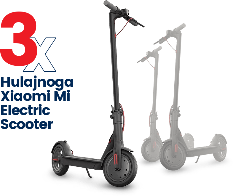 3x hulajnoga Xiaomi Mi Electric Scooter